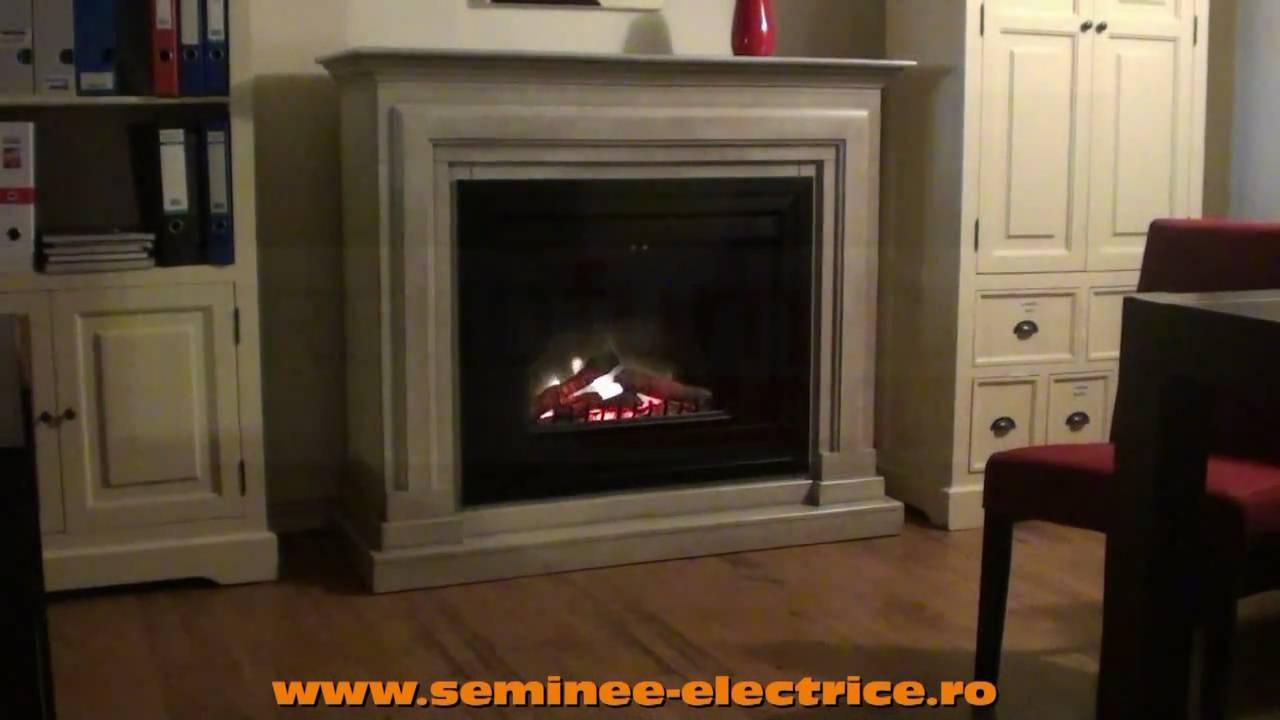 Semineu Electric Cu Flacara 3d Athena Si Focar Electric