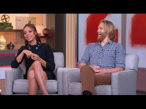 Wyatt Russell and Amber Stevens  2014: '22 Jump Street' Stars Discuss College Caper