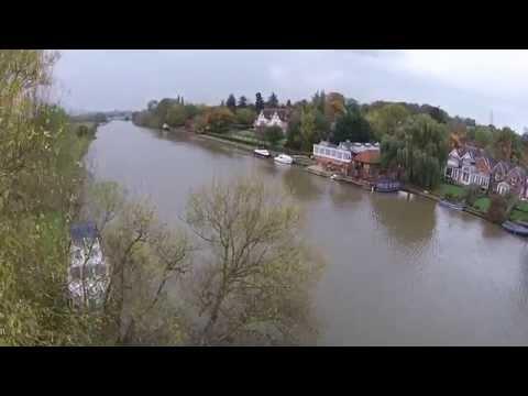River Thames at South Stoke, Oxfordshire - DJI Phantom 2 Vision