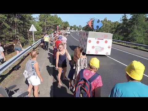 TOUR DE FRANCE 2018 Caravane Publicitaire (INTEGRALE)  1ère étape NOIRMOUTIER  Vendée 85