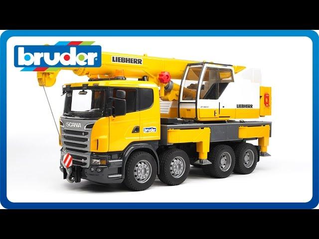 Bruder Toys Scania Liebherr Crane Truck 03570 Youtube