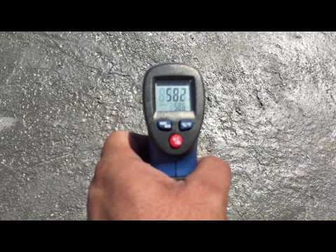 """""""Temperature Test"""" Less Upto 28 °C Surface  HEAT On Roof After Apply Isothane(Heat Proof/Waterproof)"""