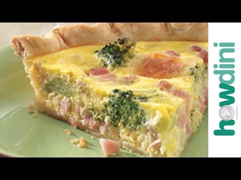 Quiche Recipe - How To Make Ham And Broccoli Quiche