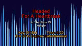 Winger - Headed For A Heartbreak (Backing Track)