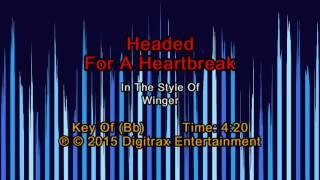 Winger - Headed For A Heartbreak (Backing Track)