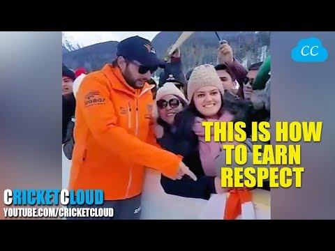 Shahid Afridi RESPECT FOR INDIAN FLAG - WON MILLIONS HEARTS !! FULL VIDEO