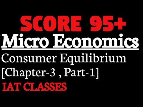 Consumer Equilibrium Chapter-3,[Part-1],Utility
