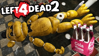 DRUNK GOLDEN FREDDY! | Left 4 Dead 2 (Fnaf Map) #1