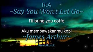 Lirik terjemahan lagu James Arthur-Say won't let go #Lirik_Animasi