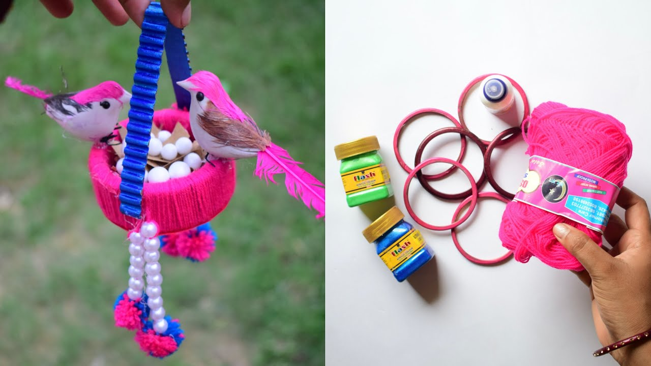 Best Out of Waste Craft | DIY Birds Nest with Bangles for Home Decor