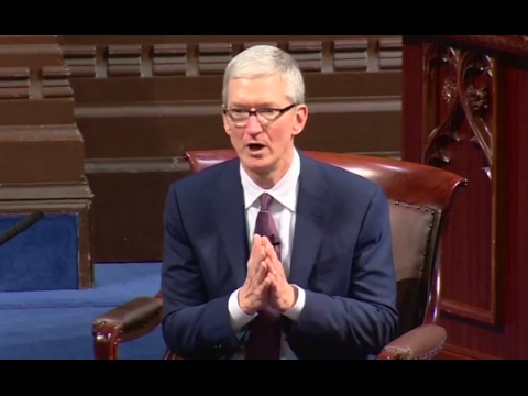 Tim Cook Speech Condemns Trump Immigration Order | ABC News