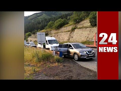 Ոստիկանները փակել են Իջեւան–Երեւան ճանապարհը, որ Փաշինյանի ավտոշարասյունն անցնի