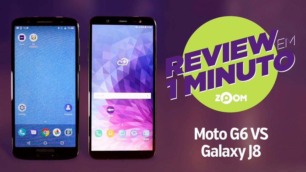 151627743f3 Motorola Moto G6 vs Samsung Galaxy J8 - COMPARATIVO   REVIEW EM 1 MINUTO -  ZOOM