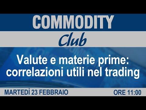 Commodity club - Valute e materie prime: correlazioni utili nel trading