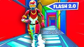 FLASH DEATHRUN 2.0 in Fortnite (Speed Parkour)
