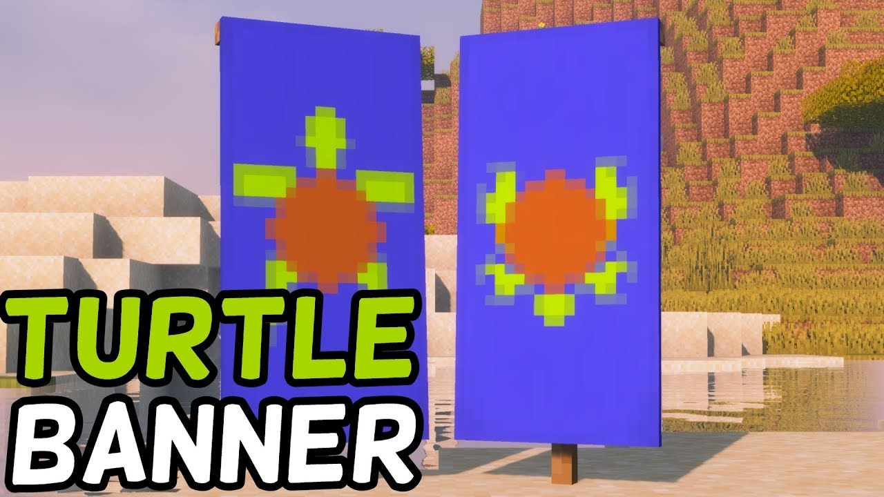 How To Make A Turtle Banner In Minecraft 1 14 Loom Crafting
