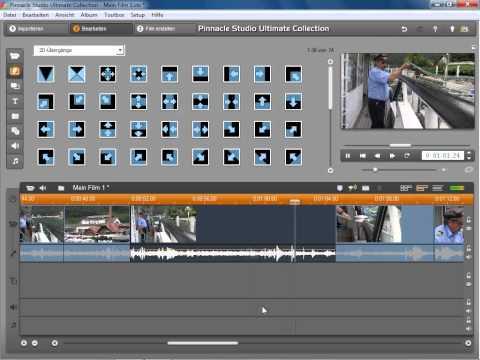Beispiel Videosequenz Teil 2 in Pinnacle Studio 14 und 15