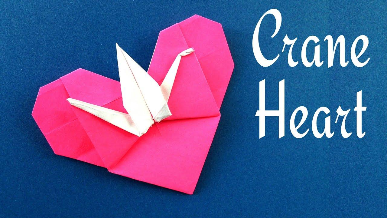 origami paper quotheart with cranequot valentine special