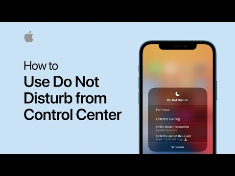 Turn on Do Not Disturb from Control Center — Apple Support