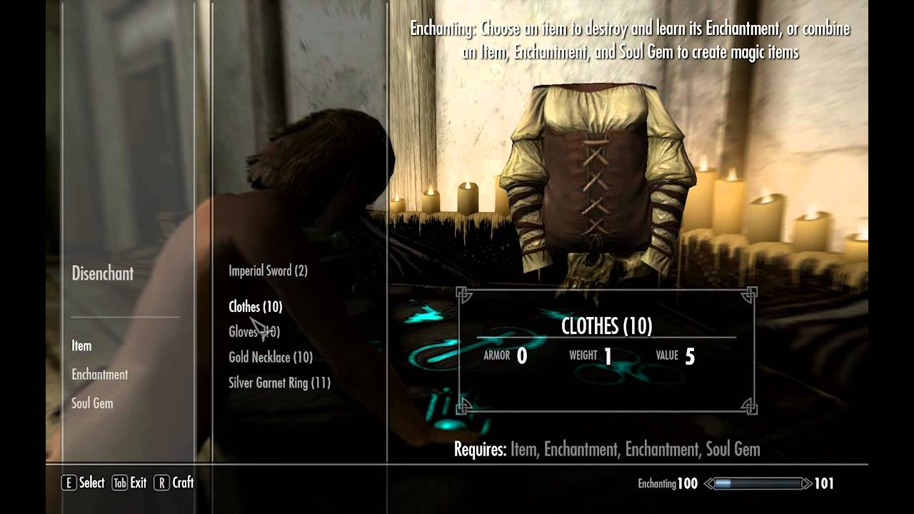 How to make +112 Fortify Smithing clothing - Easy guide - Skyrim