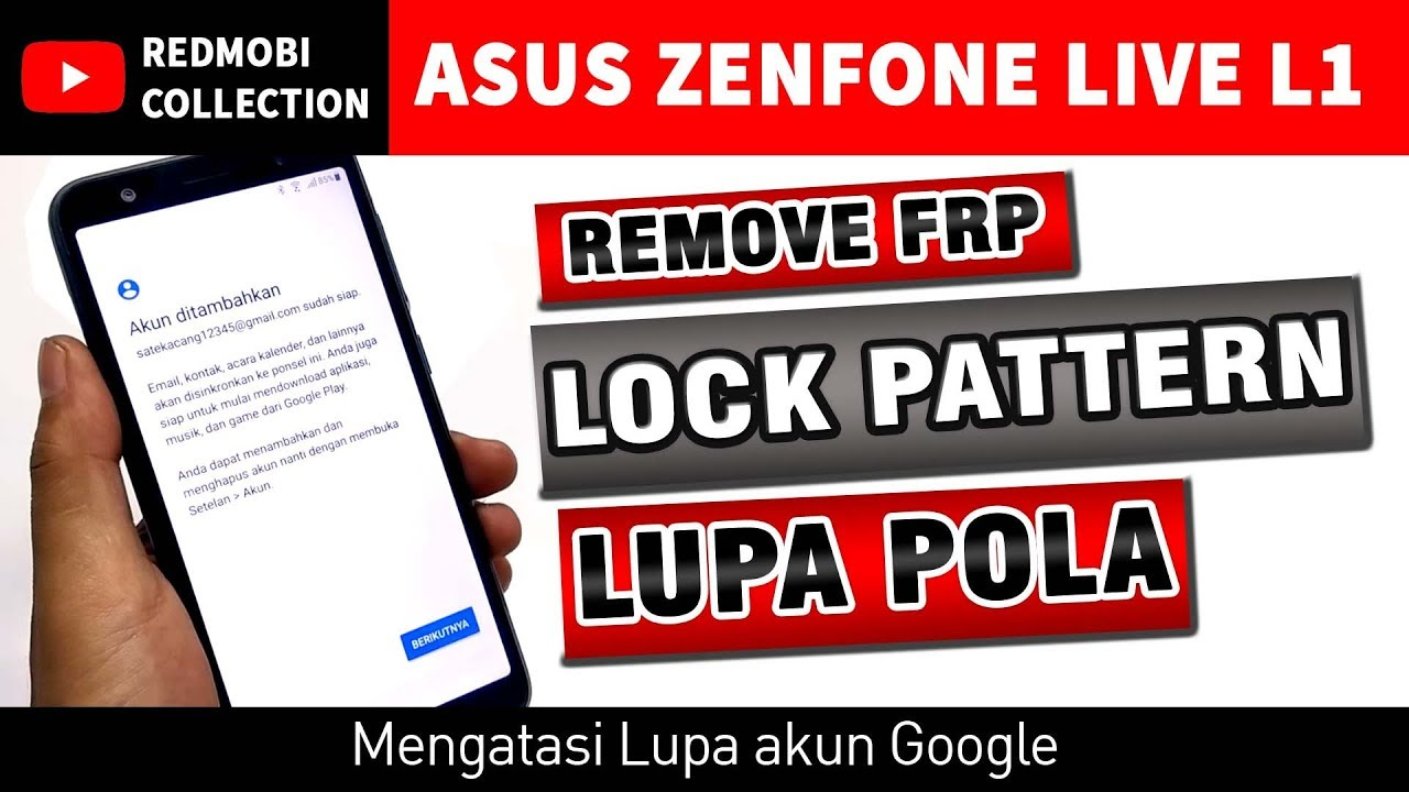 Asus Zenfone Live L1 Bypass Google Account Without Pc Youtube