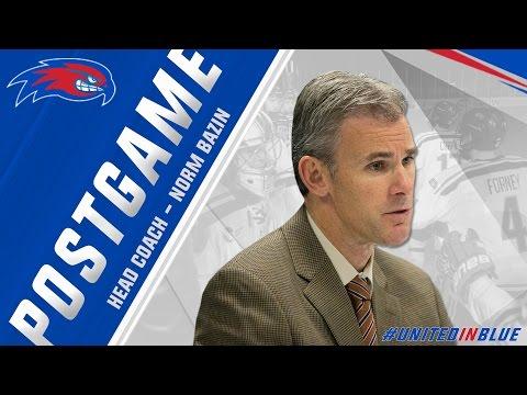 Head Coach Norm Bazin Post-Game Press Conference at Colorado College (10/15/16)