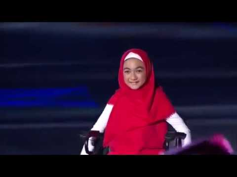 Tampil Ganteng, Jokowi Memanah Saat Opening Ceremony Asian Para Games 2018