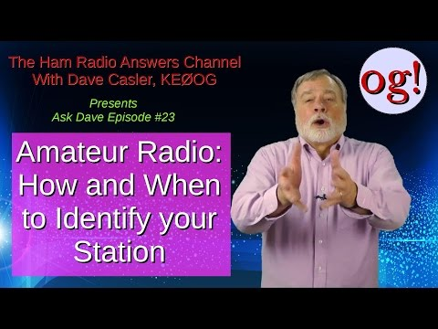 Ham Station Identification: How and When, AD#23