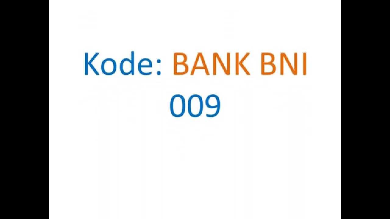 kode bank bni - YouTube