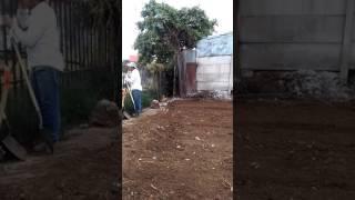 Nivelasion de terreno para construir  dos casas  constructora seraa  telf 85454690
