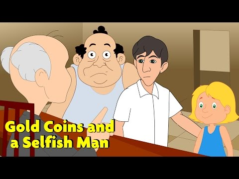 Gold Coins and a Selfish Man - English | Popular Stories Toonzee TV