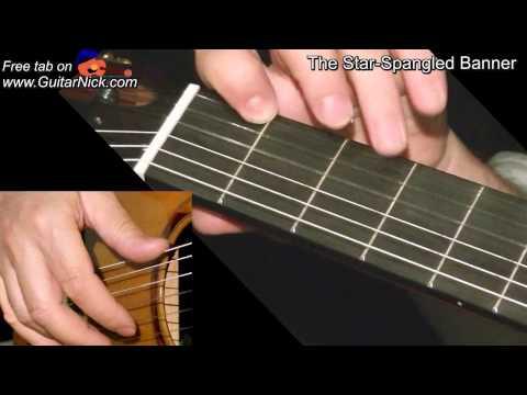 The Star Spangled Banner Easy Guitar Lesson Guitarnick Com