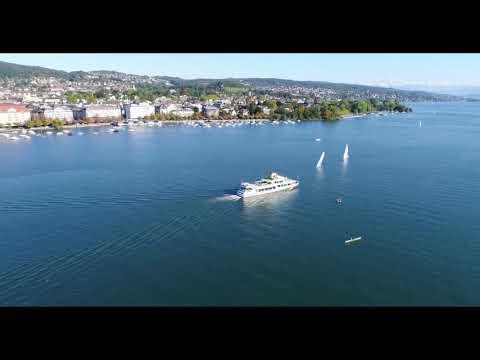 Zurich, Phantom 4 Pro Drone footage, in 4k