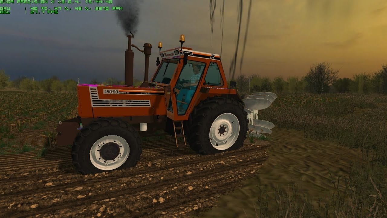 Farming simulator 2013 plowing with fiatagri 180 90 and er mo youtube