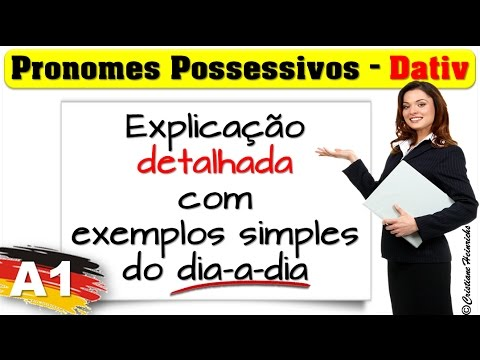 pronomes possessivos dativo possessivpronomen dativ n vel a1 youtube. Black Bedroom Furniture Sets. Home Design Ideas