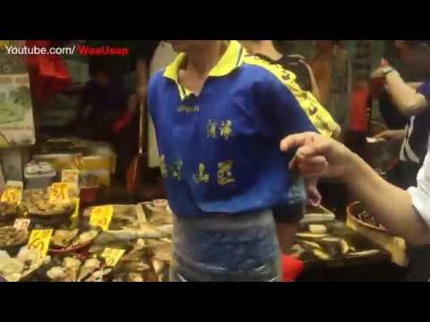 Hong Kong Chinese Street Markets Fresh Foods and Vegetables | Olympian City Snacks Fair