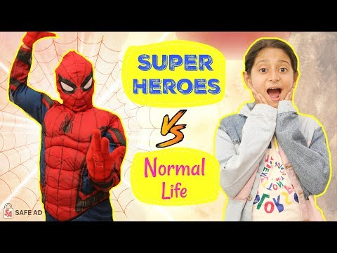 Super Heroes Vs Normal Life | #SpiderVerse #Spiderman #Roleplay #Fun #Sketch #MyMissAnand