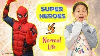 Spider Man Vs Normal Life | #SpiderVerse #Spiderman #Roleplay #Fun #Sketch #MyMissAnand