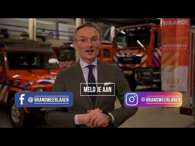 Meld je aan als brandweervrijwilliger in Laren!