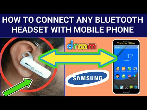 How To Connect Pair Droom Bluetooth Headset With Mobile Phone Hindi Youtube