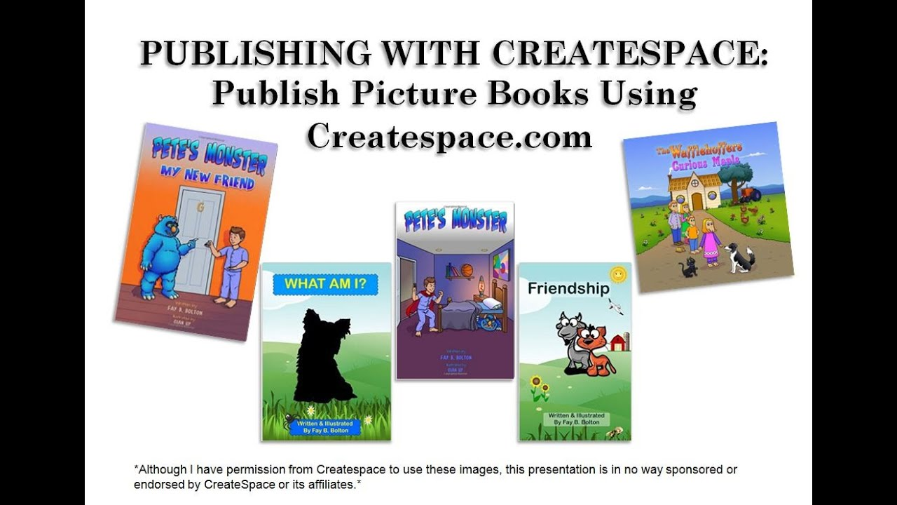how to self publish a children 39 s picture book using createspace youtube. Black Bedroom Furniture Sets. Home Design Ideas