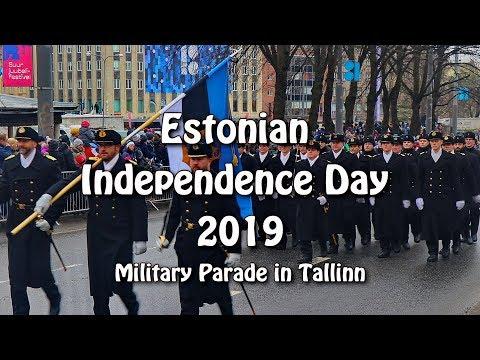 Estonian Independence Day 2019 - Military Parade in Tallinn. Eesti Kaitseväe paraad Tallinnas.