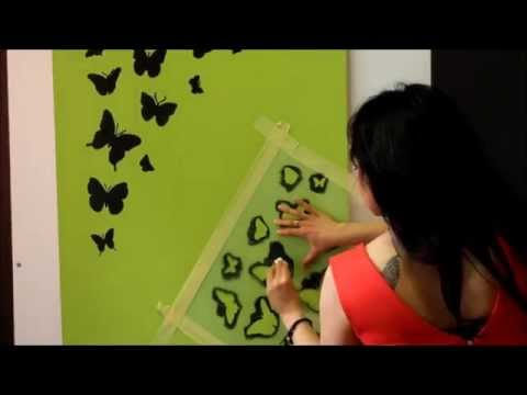Jak Malowac Szablony Malarskie Motyle By Fotodecorus Pl Youtube