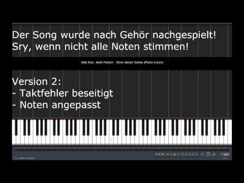 Sido feat. Mark Forster - Einer dieser Steine | Piano Tutorial Cover | VERSION 2