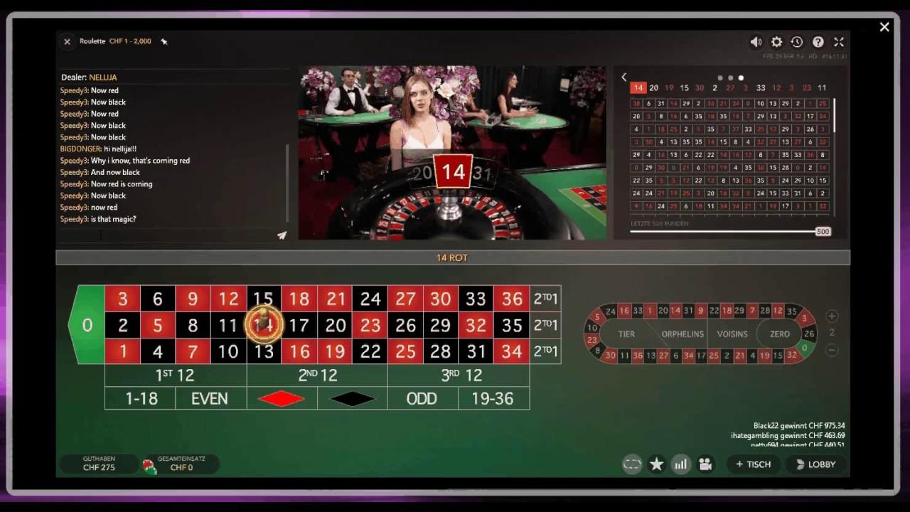Online Live Roulette Manipuliert