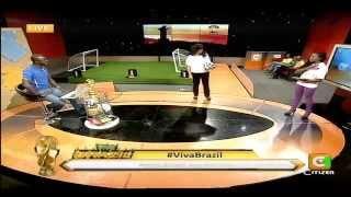 Julie Gichuru Co Hosting Viva Brazil With Mike Okinyi Part 1