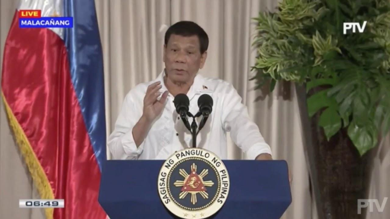 Duterte rejects Robredo as his succesor, says Naga a hotbed of shabu