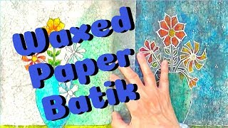 Waxed Paper Batik with Alcohol Inks! - Barb Owen - HowToGetCreative.com