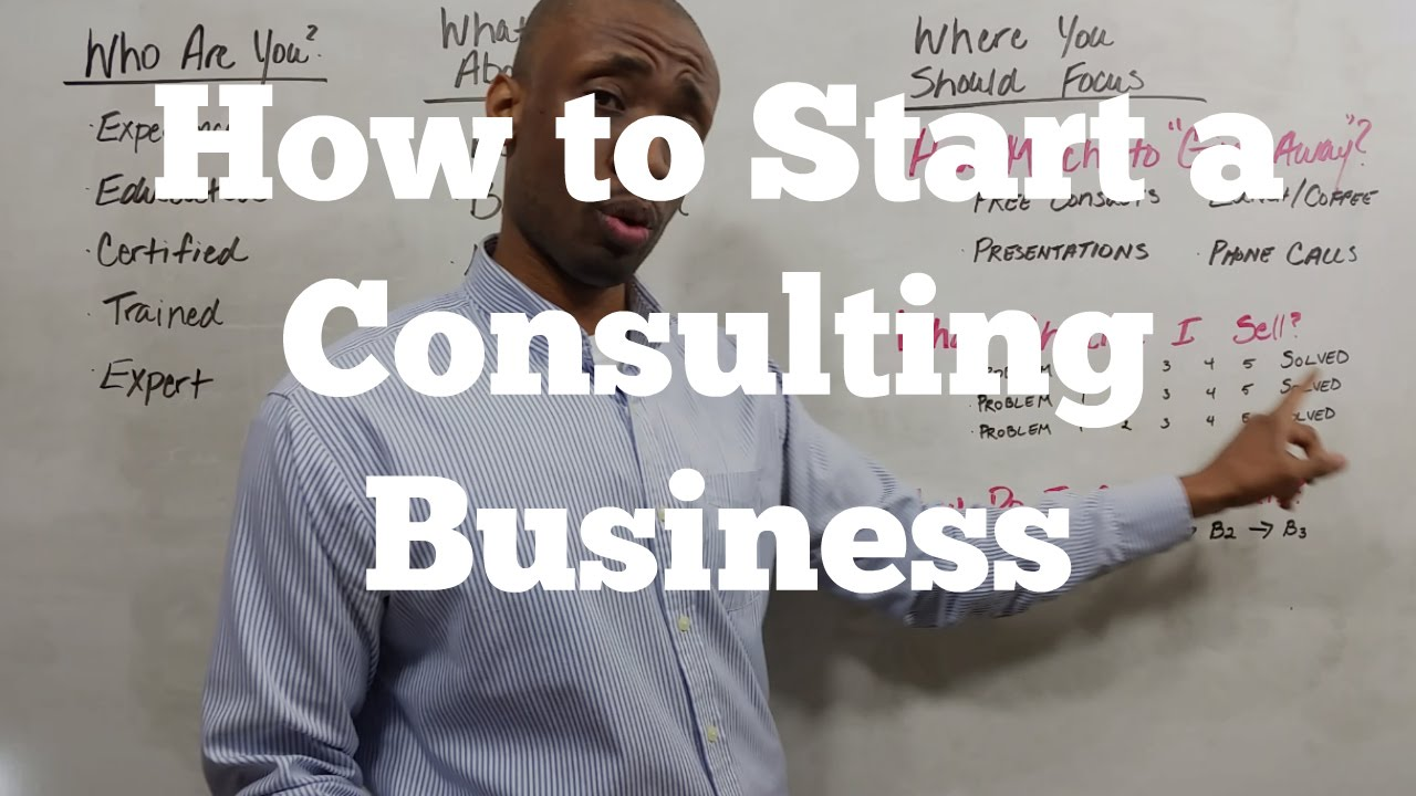 How To Start A Consulting Business Youtube