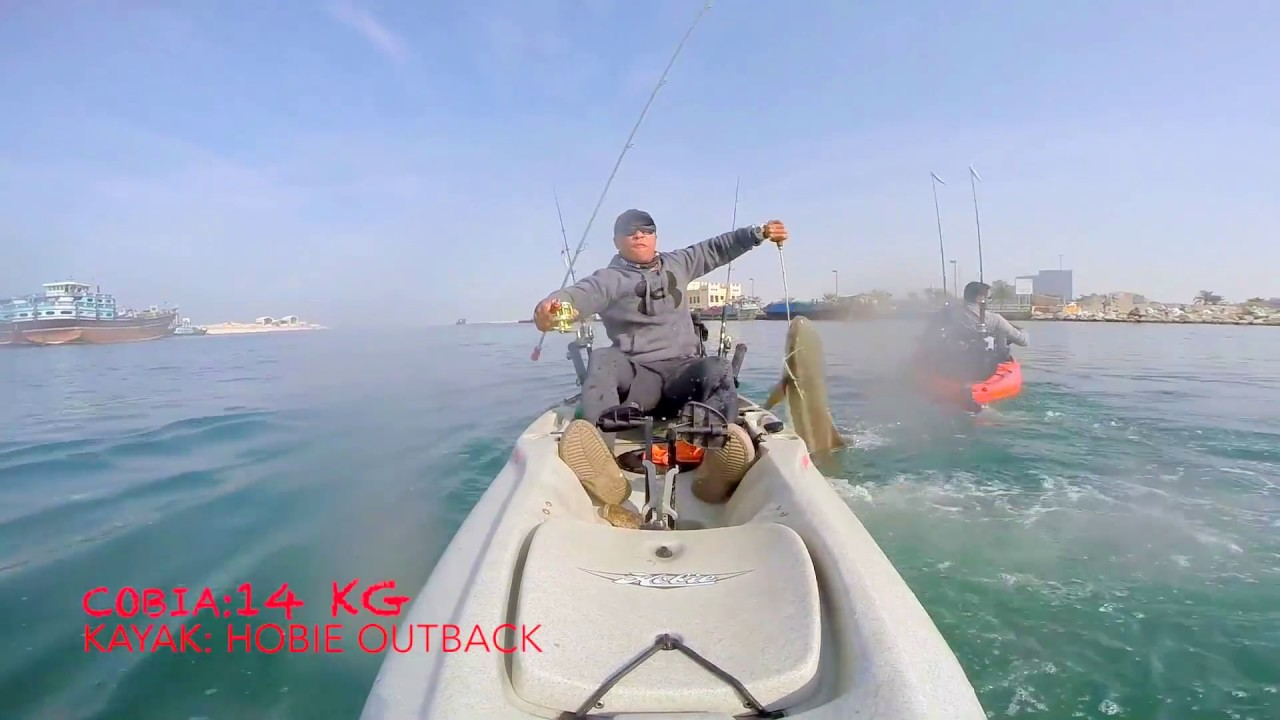 Kayak fishing cobia youtube for Youtube kayak fishing